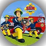 Fondant Tortenaufleger Tortenbild Geburtstag Feuerwehrmann Sam T14