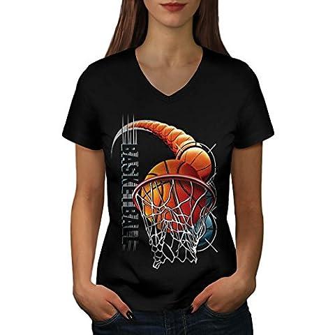 Basket Sport Miami Chicago Femme NOUVEAU Noir M T-shirt |