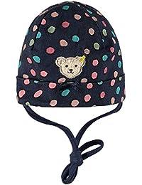 STEIFF® Mädchen Jersey Mütze Winter Dots