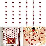 Tinksky Coeur rouge guirlande mariage Valentine Noël anniversaire enfants bébé douche suspendus décoration feutre Garland Pack de 6
