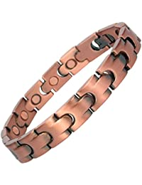 MPS DIONEER Men's Copper Rich Magnetic Bracelet + Free Links Removal Tool