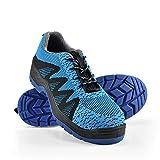 pro.tec Zapatos de Seguridad Azul, Talla 43 Zapatos cómodos para Trabajar Calzado de Seguridad Zapatos Deportivos Al Aire Libre Air Mesh