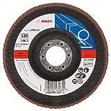 Bosch Pro Fächerschleifscheibe Expert for Metal zum Schleifen von Metall  für Winkelschleifer (Ø 125 mm, Körnung 120, gewinkelt)