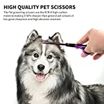 Fancyli Dog Grooming Scissors, Rainbow 7 inches Pet Stainless Steel Curved Scissor Suit Provided With Curved Thinning… 14