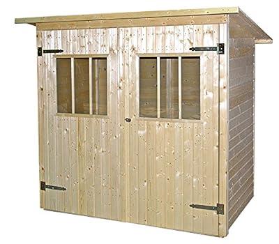 JODA Gerätehaus natur Nadelholz 192 x 118 cm Gartenhaus Geräteschuppen Schuppen von JODA bei Du und dein Garten