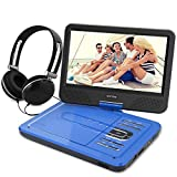 WONNIE 10.5 Inch Portable DVD Player for Kids with Swivel Screen