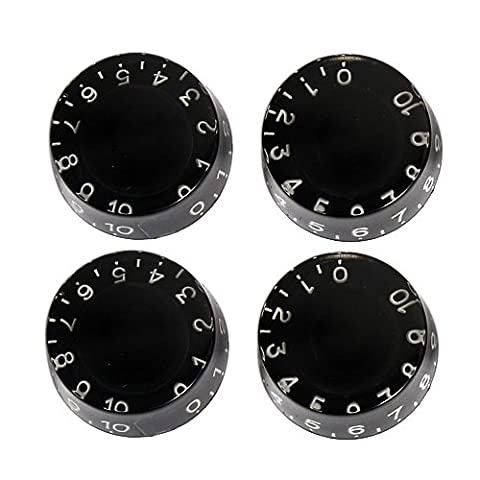 4pcs Black Speed Knobs for Stratocaster Telecaster Gibson Ibanez Etc..