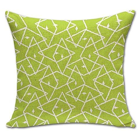 warmlife-abstract Peintures Motif carré Couvre-lit en coton taie d