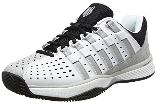 K-Swiss Performance Hypermatch HB, Scarpe da Tennis Uomo, Bianco (White/Gull Gray/Black), 44.5 EU