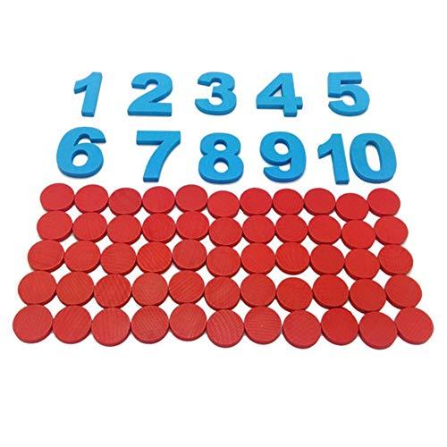 jEZmiSy Früh Bildung, Ziffer Zähler Kinder Spielzeug Vorschule Mathematik Lehren Hilfe Baby Werkzeug (Bildungs-zähler)
