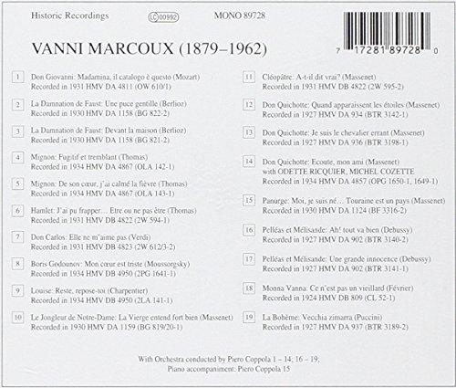 Mozart/Berlioz/Thomas/Verdi : Arien. Marcoux.