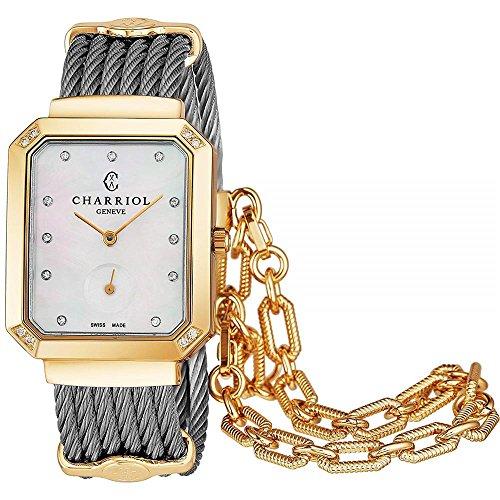 Charriol Women's Gold Tone Steel Bracelet Swiss Quartz Watch STREYD2.560.001