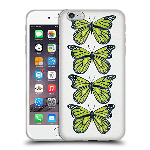 Ufficiale Cat Coquillette Nero oro Scorpione Insetti Cover Morbida In Gel Per Apple iPhone 6 Plus / 6s Plus Farfalle lime