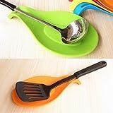 iiou Orange Style Simple Repose-cuillère en silicone Poêle de cuisine outil