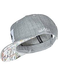 Nebelkind Snapback Cap grau mit original Berliner U-Bahn Netz / Netzplan onesize unisex