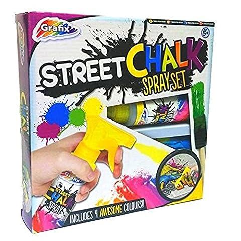Grafix Rue Craie Vaporisateur Set Enfants Graffiti Peinture