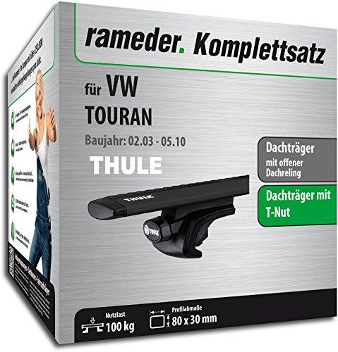 Rameder Komplettsatz, Dachträger WingBar für VW TOURAN (118344-04954-53)