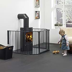 baby dan barriere pare feu flex xl noir. Black Bedroom Furniture Sets. Home Design Ideas