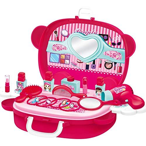Princesse Valise Kit de Maquillage pour Les Filles Habiller Ensemble Jouet Cadeau Jeu D'habillage pour Les Enfants
