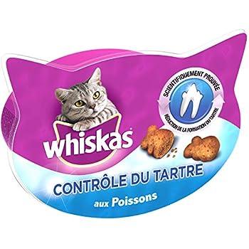 Whiskas Friandises pour Le Contrôle du Tartre Chez Le Chat, 8 Boîtes de 40g de Récompenses
