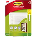 Command Picture and Frame Hanging Strip, Large -Set of 24 Pairs