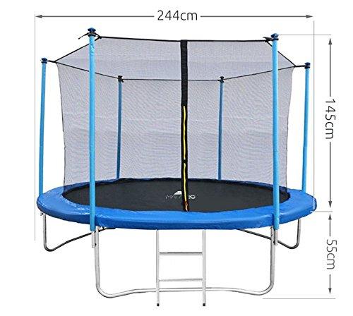 Gartentrampolin 244 305 366 mit Innennetz Leiter Randabdeckung Komplettset #2208, Größe:244 cm