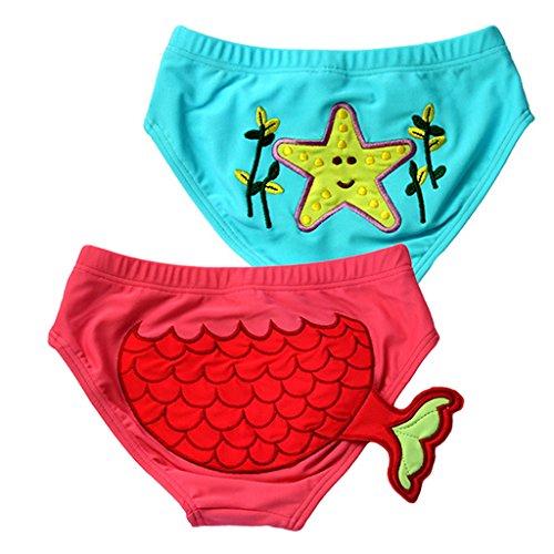 Bébé Culotte de Natation 2 Pièces Shorts de bain Couche Culotte de bain 0 - 5 ans Vine