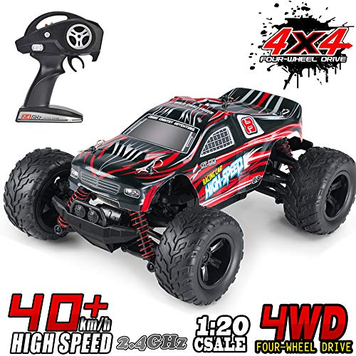 MaxTronic RC Cars RC Auto Rock Offroad Racing Fahrzeug Crawler Truck 2,4 Ghz 4WD High Speed 1:20 Radio Fernbedienung Buggy Elektro Fast Race Hobby- Rot*