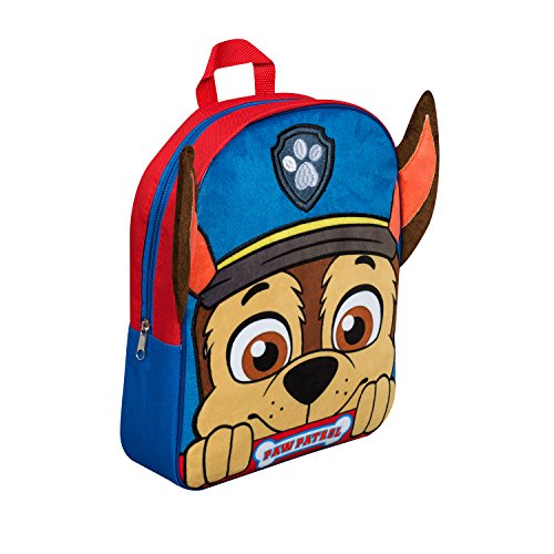 paw-patrol-chase-plush-fleece-front-backpack-with-ears-kids-school-bag-rucksack