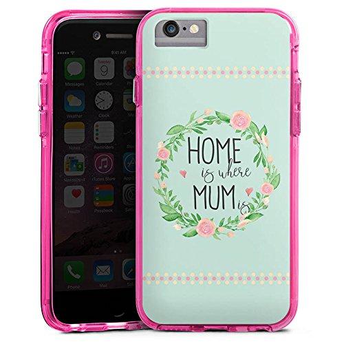 Apple iPhone 7 Bumper Hülle Bumper Case Glitzer Hülle Muttertag Mama Geschenk Bumper Case transparent pink