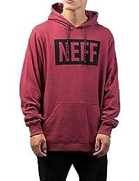 Neff Men's New World Pullover Hoodie Maroon Heather Burgundy