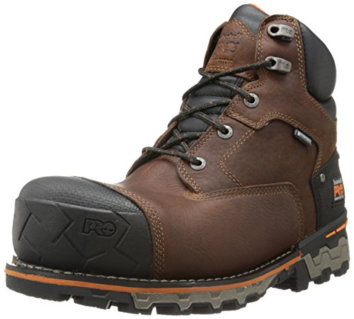 Timberland PRO Men's 6 Inch Boondock Comp Toe Waterproof Insulated Industrial Work Boot,Brown Tumbled Leather,14 M US Comp Toe Boot