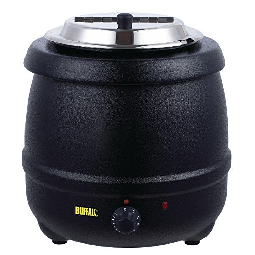 Buffalo Kompakt Warmhaltetopf schwarz Herausnehmbarer Innenbehälter Geliefert mit Etikett mit magnetischem Halter. Nasswärme werden nur unterstützt.