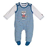 SALT AND PEPPER Baby-Jungen Strampler BG Playsuit Stripe, Blau (Blue Melange 455), 56
