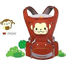 SONARIN 4 en 1 de dibujos animados multifunción Hipseat Baby Carrier, Portador de bebé,