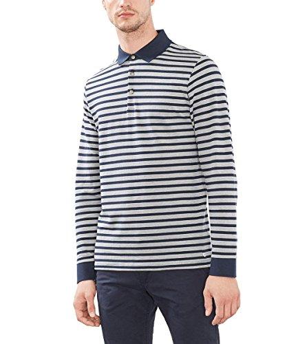 ESPRIT Collection Herren Poloshirt Blau (NAVY 400)
