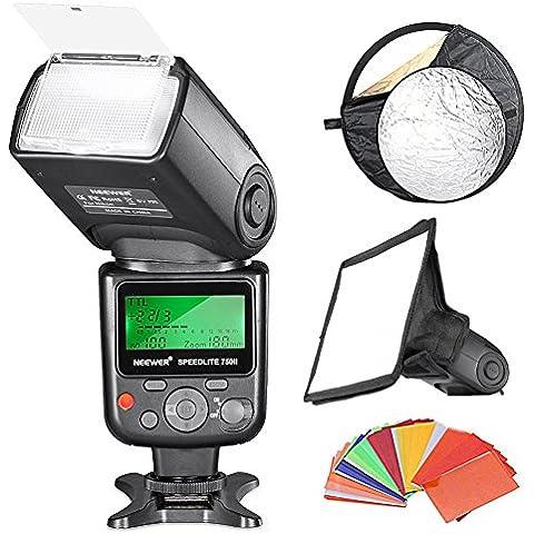 Neewer Profesional i-TTL - Flash con zapata para cámaras Nikon (LCD, ISO 100, modo S1/S2), color negro - kit con 35 piezas de filtro