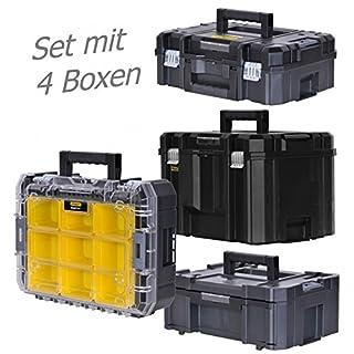 STANLEY FATMAX TSTAK Box II + Box III + Box V + Box VI 4 Werkzeugboxen