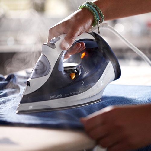 Philips SteamGlide Plus Plancha de Vapor, 2400 W, 0.3 litros, 0.35, Acero Inoxidable, Azul
