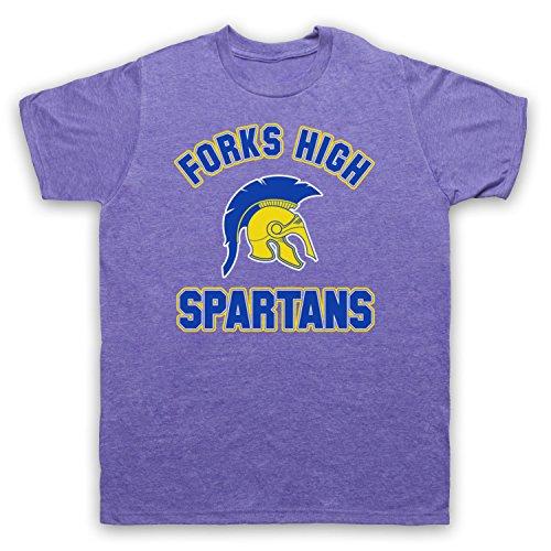 Inspiriert durch Twilight Forks High Spartans Unofficial Herren T-Shirt Jahrgang Violett
