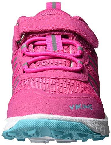 Viking - Holmen, Scarpe sportive outdoor Unisex – Bambini Pink (Magenta/Turquoise)