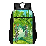 TRFashion Sac à Dos Coconut Palm 17 inch College Laptop Notebook Bag Backpack...