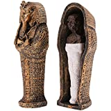Rare Ancient Egypt Coffin With Mummy Figurine For Home Decoration Resin Craft