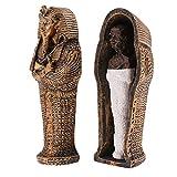 Fenteer Ägypten Mumie Schädel Figurine als Deko Sammlung