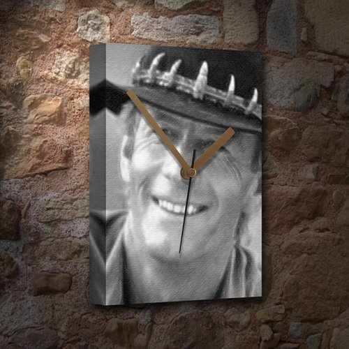 PAUL HOGAN - Canvas Clock (LARGE A3 - Signed by the Artist) #js001