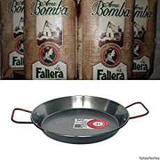 5kg Riso Bomba la Fallera + Padella per la Paella Valenciana 46 cm (12 porzioni)