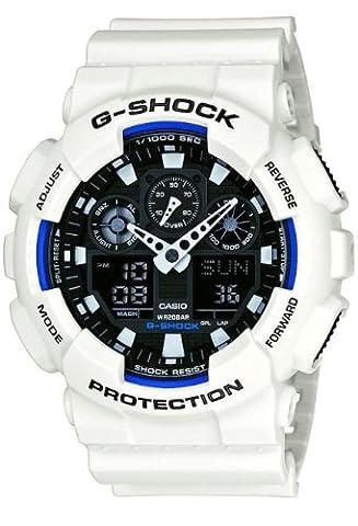 Casio G-Shock Ana/Digi Herren Uhr Weiß GA-100B-7AER