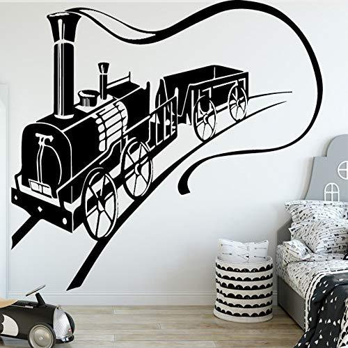 Galoppierenden zug wandaufkleber entfernbare wandaufkleber diy tapete für wohnzimmer schlafzimmer stikers für wanddekoration wandbilder 58 cm x 81 cm