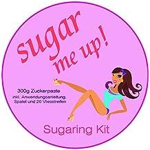 Sugar me UP! Set zur einfachen und leichten Haarentfernung mit Sugaring Zuckerpaste , inkl. Zuckerpaste, Vliesstreifen, Kunststoffspatel und bebilderter Anwendungsanleitung.