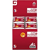 GIZEH - Filtros de tabaco de liar hechos en Francia., Slim, 40